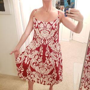 Ann Taylor Linen Floral Dress Size 14